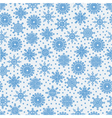 seamless pattern with lots of snowflakes on a whit vector image
