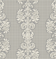 Seamless vintage lace background vector image