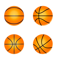 set basketball ball vector image vector image
