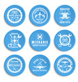 set drone logos badges emblems and design vector image
