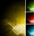 Set of hi-tech backdrops vector image