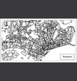 singapore city map in black and white color vector image vector image