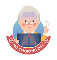 Smoking Lung Problem with No Smoking Day Sign vector image vector image
