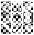 square halftone set vector image vector image