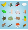 Sri-lanka set icons isometric 3d style vector image vector image