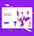 startup business teamwork people and interact vector image vector image
