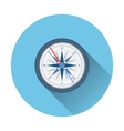 stylish flat design white Compass Icon vector image vector image