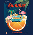 summer element poster layout vector image vector image