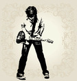Teen guitar player vector | Price: 1 Credit (USD $1)