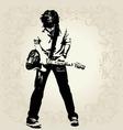 teen guitar player vector image vector image