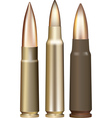 three rifle bullets vector image