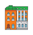 townhouse line icon concept townhouse flat vector image