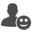 user glad smiley flat icon vector image