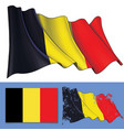 waving flag of belgium vector image vector image