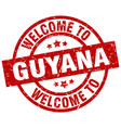 welcome to guyana red stamp vector image vector image