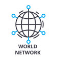 world network thin line icon sign symbol vector image vector image