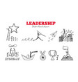 leadership hand drawn infographic vector image