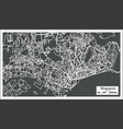 singapore city map in retro style outline map vector image