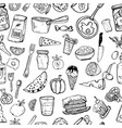 pattern of kitchen utensils and cooking objects vector image