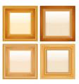 set of golden vintage frames vector image