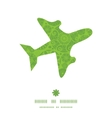 abstract green and white circles airplane vector image vector image