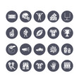 american football rugby flat glyph icons vector image vector image