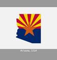 arizona map flag vector image vector image