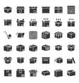 box and parcel icon for business pixel perfect vector image