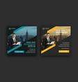 business instagram banner post template design vector image