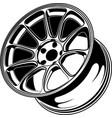 car wheel 6 vector image vector image