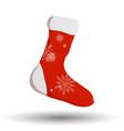 cartoon christmas stocking hanging vector image