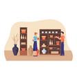 ceramics shop vector image