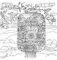 Chinese lantern zentagle vector image vector image