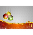 christmas background two color red balls vector image vector image