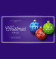 christmas horizontal sale promo banner holiday vector image vector image