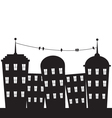 city black and white vector image
