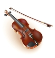 Classical violin on white background vector image