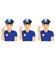 confident policeman counting numbers vector image vector image