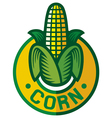 corn label vector image vector image