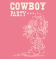 cowboy boot with christmas elements cowboy party vector image vector image