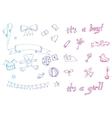 doodle baicon sets vector image