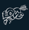doodle for love concept vector image
