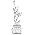 Drawing statue of liberty in new york usa