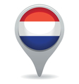 dutch flag pointer vector image vector image