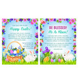 easter spring holidays poster template design vector image