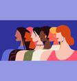female feminism women all vector image vector image
