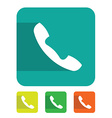 Flat sign phone vector image vector image