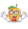geek apricot character cartoon style vector image vector image