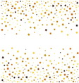 Gold glitter stars on white background vector image vector image