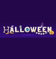 halloween spooky header vector image